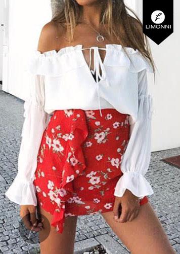 Blusas para mujer Limonni Bennett LI1150 Campesinas