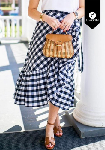 Faldas para mujer Limonni Claudette LI2348 Largos elegantes