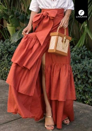 Faldas para mujer Limonni Claudette LI2625 Largos elegantes