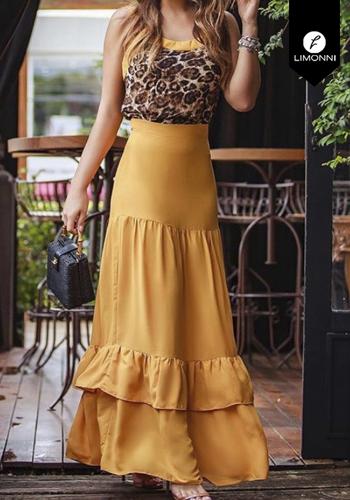 Faldas para mujer Limonni Claudette LI2700 Largos elegantes