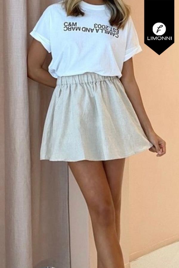 Faldas para mujer Limonni Mailía LI3570 Casuales